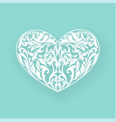 floral hearts with shadow vector image