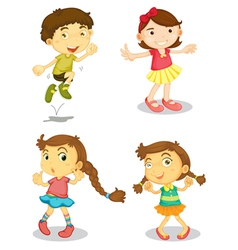 four kids vector image