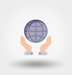 Globe in the hands vector