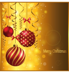 Gold christmas vector image