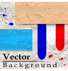 Grunge background with plates and lines vector image