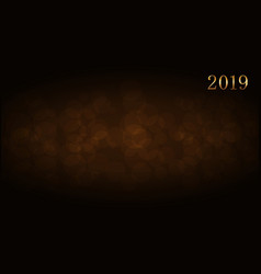 happy new year background gold numbers 2019 card vector image