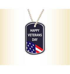 Happy veterans day medallion with inscription vector
