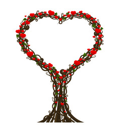 heart tree nature sign cover on a white background vector image