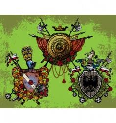 heraldic coat vector image