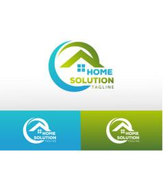 Home solution logo creative logo solution vector