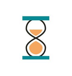 hourglass time web development icon line and fill vector image