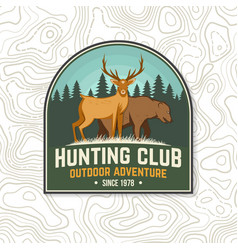 hunting club badge concept for shirt vector image