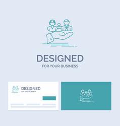 Insurance health family life hand business logo vector