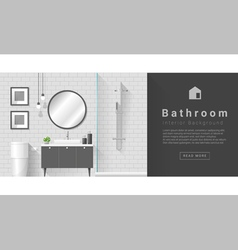 Interior design Modern bathroom background 4 vector image
