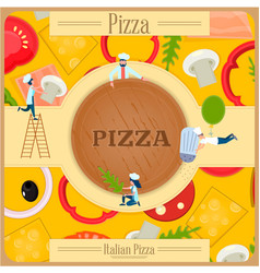 Italian restaurant pizza cooking vector