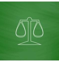 Justice scale computer symbol vector