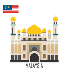 landmark brunei malaysia the grand mosque vector image