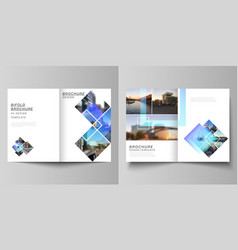 layout two a4 format modern cover vector image