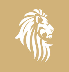 Lion head image vector