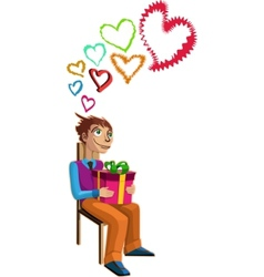 love struck man vector image