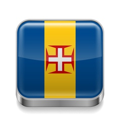 Metal icon of Madeira vector