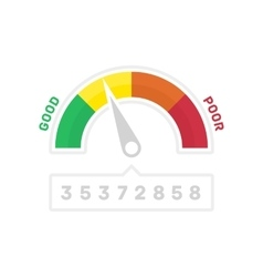 Narrower credit counter vector image