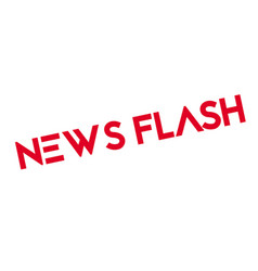 News flash rubber stamp vector