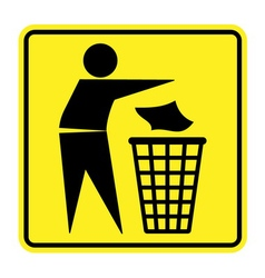 no trash sign vector image