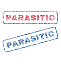 Parasitic textile stamps vector
