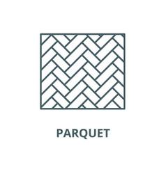 Parquet line icon linear concept outline vector