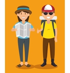 People tourists avatars characters vector