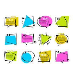 quotations and speech bubbles collection - set vector image