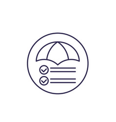 risk management line icon on white vector image