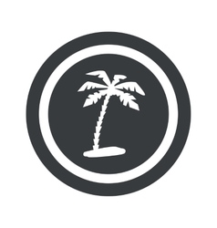 Round black vacation sign vector image