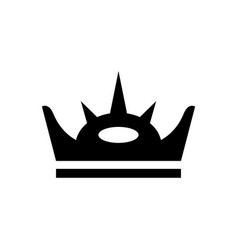 royal crown and power symbol glyph icon vector image