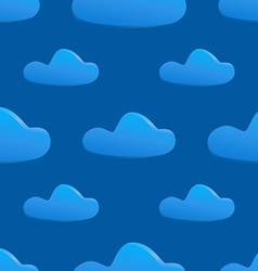 Seamless pattern of clouds on dark blue sky vector