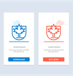 security leaf canada shield blue and red download vector image