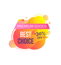 Shopping premium goods sale and discount vector