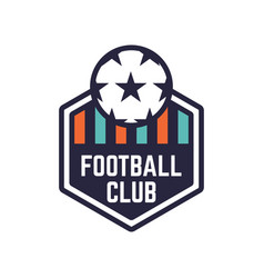 soccer or football club logo or badge vector image