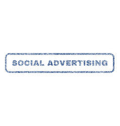 Social advertising textile stamp vector