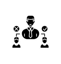 social hierarchy black icon sign on vector image
