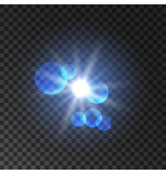 Spot light with lens flare effect Lamp flash vector image