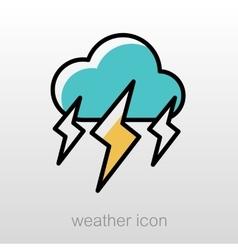 Storm Cloud Lightning icon Meteorology Weather vector image