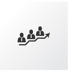 team success icon symbol premium quality isolated vector image