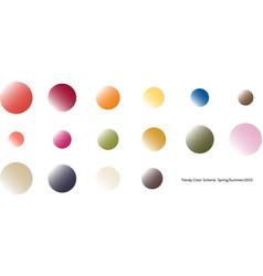 Trendy color scheme by gradient rounds vector