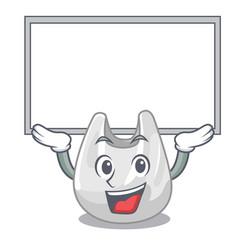up board plastic bag character cartoon vector image