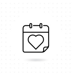 valentine day icon vector image