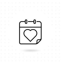 Valentine day icon vector