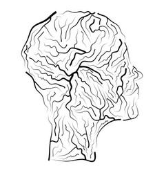 Vein human head symbol icon design beautiful vector