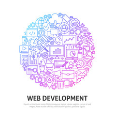 Web development circle concept vector