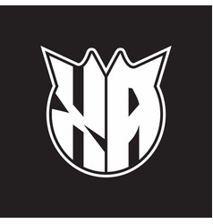 Xa logo monogram with horn shape style design vector