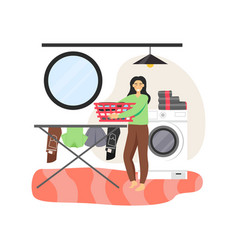 young woman cleaning company worker washing vector image