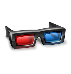 3d glasses for watching vector image vector image