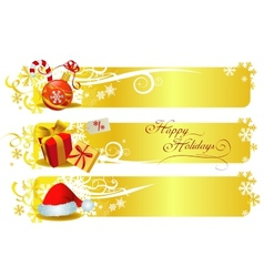 Classic christmas banners vector image vector image